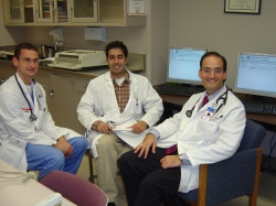 From left: Mark Simone, Amrish Malhi, and Parham Eftekhari